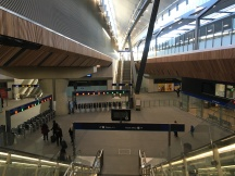 View of the impressive new concourse