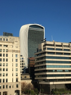 On one side we see the Walkie Talkie (Sky Garden)
